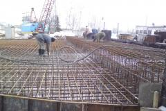 Reinforcement work for the foundations of grain silos with a capacity of 10.322 thousand. m3. Site: Reconstruction of the plant for the processing of oilseeds. Address: 22 Matrosova lane, in the town of Volnyanske, Zaporizhia region. Customer: TOV (limited liability company) Agroproinvest 08.