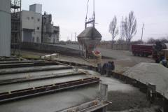 Concrete work for the foundation of grain silos with a capacity of 10.322 thousand. m3. Site: Reconstruction of the plant for the processing of oilseeds. Address: 22 Matrosova lane, in the town of Volnyanske, Zaporizhia region. Customer: TOV (limited liability company) Agroproinvest 08.