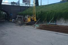 Installation of auger piles. Site: Retaining wall of DGES- 2. Customer: Ukrhydroenergo.