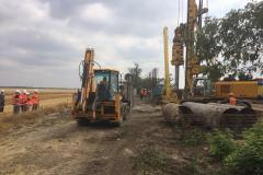 Installation of auger piles ⌀ 1020 mm. Site: A 500 MW wind power station in the Priazovsk and Melitopol region, stage 1. Client: TOV (limited liability company) EuroCape Ukraine I.