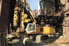 Installation of tangential piles. Site: four pillar  press. Blast Furnace-3. Customer: PAT (public joint-stock company) Zaporizhstal.