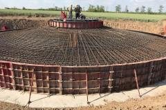 Foundation plate wind turbine. Reinforcement work. Site: Primorskaya WPP 1 turn. Customer: DTEK.