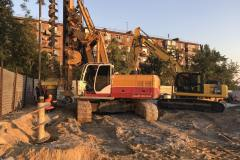 "Installation of the screw on the point. Installation of piles Ф620мм. (CFA). Site: ""Residential complex at 96 Peremogy street. Zaporizhia."