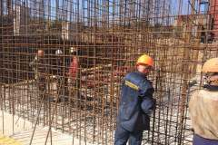 "Reinforcement work. Site: Construction of the main ventilation unit of the ""Ekspluatatsiina"" mine. Dniprorudne. Zaporizhia region Customer: Zaporizhia Iron Ore Plant."