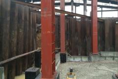 Підпірна стінка з шпунта Ларсен-V. Об'єкт: аглоцеха-2. Реконструкція будівель і споруд комплексу А / М6. Будмайданчик №2. Замовник: ПАТ «АрселорМіттал Кривий Ріг».