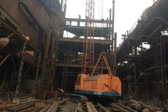 Монтаж металлоконструкций. Объект:  Строительство   объединенной  насосной ДП-3. Заказчик: ПАО « Запорожсталь».